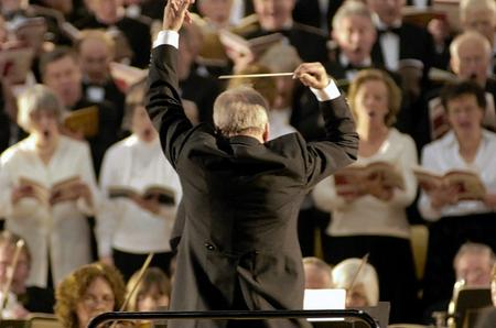 Mark Deller conducting Ashford Choral Society